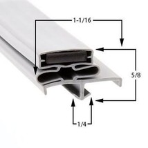 Commercial Refrigeration Gasket Glenco-Star Metal AHFA72T Part# (SP-691-2) - $79.15