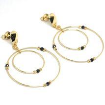 Ohrringe Anhänger Gelbgold 750 18K, Doppelt Kreis, Turmaline, Kugel image 3