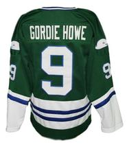 Custom Name # Whalers Retro Hockey Jersey New Green Gordie Howe #9 Any Size image 2