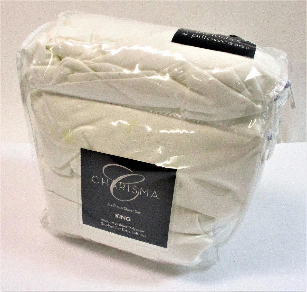 Costco Charisma Sheets White: Charisma KING 6 Pc Sheet Set