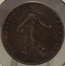 KM# 854 1918 France Silver 50 Centimes VF #0848 - $2.79
