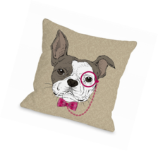 One Bella Casa Monocle Dog Throw Pillow by OBC,... - $86.37