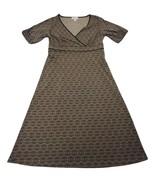 Ann Taylor Loft Faux Wrap Women's Brown Paisley A Line Dress Size 2 - $19.24