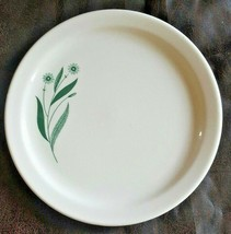 USA Homer Laughlin Best China HLC3930 Green Flowers Ivory Salad Dessert Plate  - $10.89