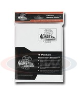 4-POCKET MONSTER PROTECTOR BINDER - MATTE WHITE - $16.63