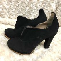 Bcbg Maxazria Schuhe Peep Scarpa Wildleder Schwarz Absatz Stiefel Größe: 7US - $37.10