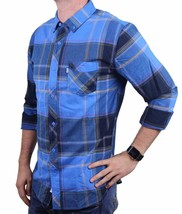 NEW LEVI'S MEN'S CLASSIC SULTAN COTTON TWILL LONG SLEEVE FRENCH BLUE 3LDLW1451 image 2