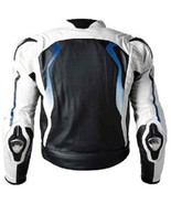 MEN'S BMW MOTORCYCLE COWHIDE LEATHER JACKET MOTORBIKE LEATHER JACKET ALL... - $179.99