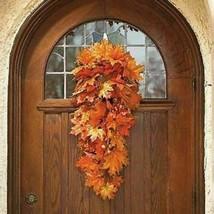 "Retired GRANDIN ROAD Fall/Autumn Autumn Lantern Wreath Grandinroad 26"" - $124.99"