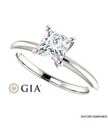 1/2 (0.50) Carat Princess Cut GIA Certified Diamond Ring in 14K White Gold - $1,599.00