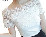 Ort sleeve blouse ladies fashion elegant blouses women lace patchwork blouse shirt thumb155 crop