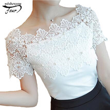 Hollow Out  Women Sexy Short Sleeve Blouse Ladies Fashion Elegant Blouse... - $12.70
