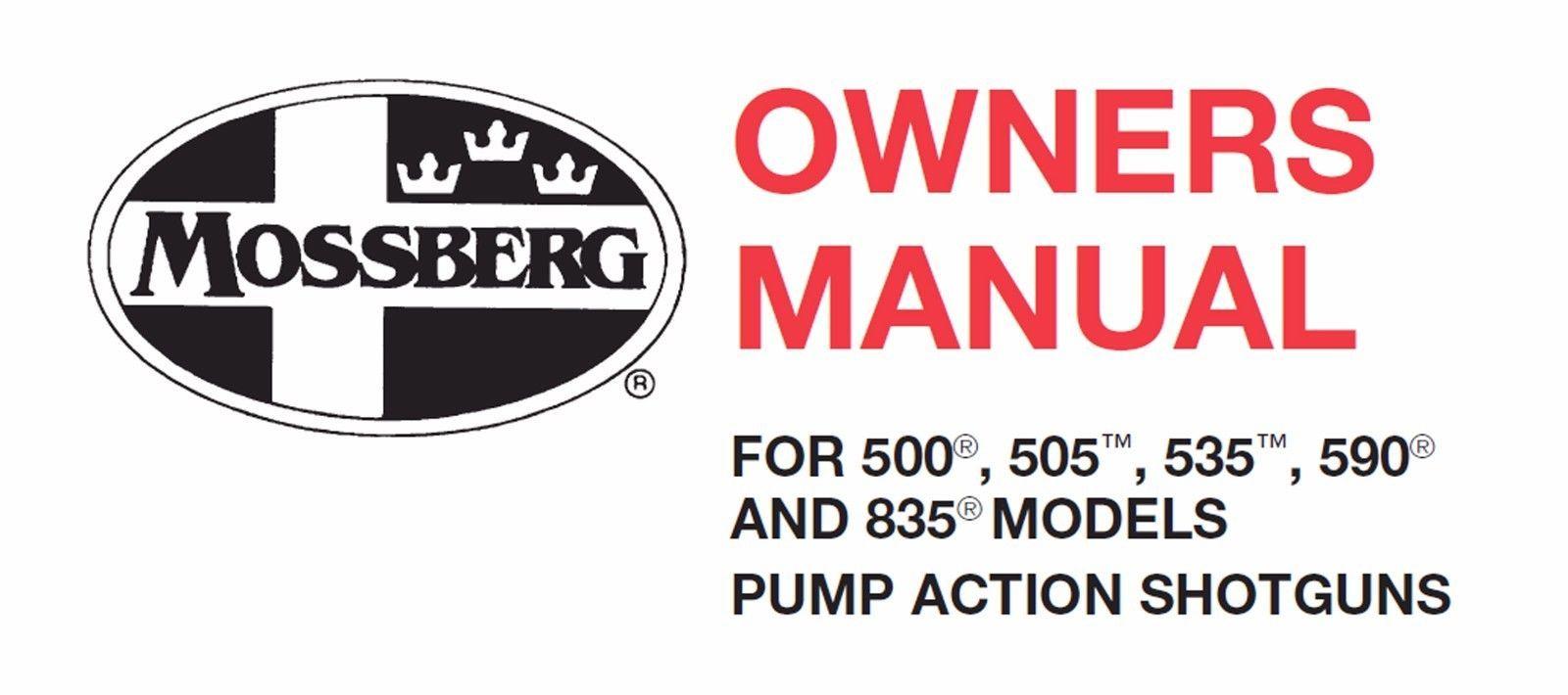 mossberg manual 13 listings rh m bonanza com Diagram of Mossberg 500 Shotgun Mossberg Owners