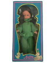 """VIntage 1970s Anita Fashion Doll Mod Groovy Made In Hong Kong 8"""" Green D... - $21.36"""
