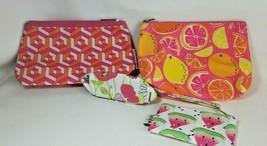 Cosmetic Bag Lot Clinique Watermelon Adler Floral Vera Neumann Lady Bug ... - $17.77