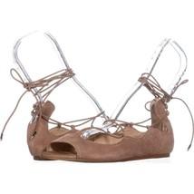 Sam Edelman Barbara Lace Up Ballet Flats  436, Camel Suede, 7 US / 37 EU - $53.75
