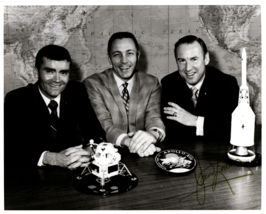 Signed (by Astronaut James Lovell) Photograph of Apollo 13 Astronaut Crew - $350.00