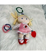 Eric Carle Mobile Doll Strawberry Caterpillar Girl Blonde Doll Stuffed Toy - $8.59