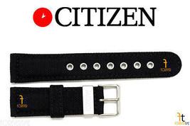 Citizen AT0660-05E 22mm Nylon Noir Bracelet de Montre AT0660-05F H500M-K006937 - $57.43