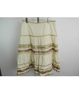 Nanette Lepore Cream Gold Skirt Womens Size 2 - $45.07