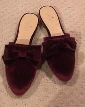 Kate Spade Madra Bow Velvet Mule Flat Size 6.5 , 7 NWT - $78.21
