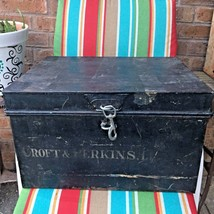 Mysterious Black Vintage Metal Box, Croft and Perkins Limited - $59.39
