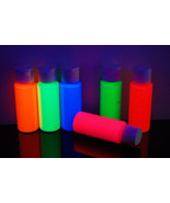 6 Pack 2oz Assorted Blacklight Reactive Fluorescent Acrylic Paint - $23.95