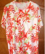 "Coral Bay Short-Sleeve Knit Top, 53"" Bust ~ 2X, EUC - $9.95"