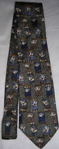 Geoffrey Beene Sage Green Daisy Men Neck Tie - $10.00