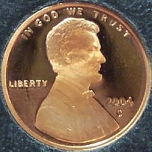 2004-S Ultra Cameo Proof Lincoln Penny #0597 - $3.19