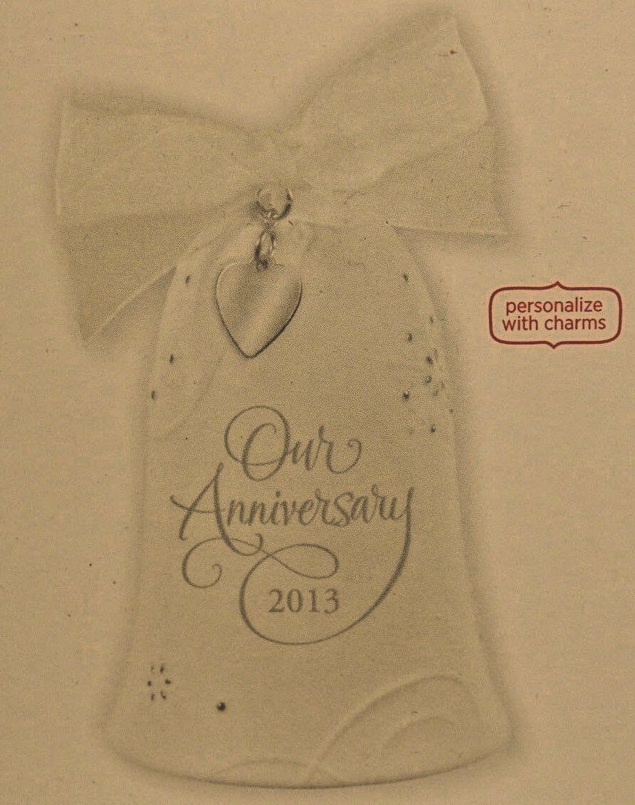 Hallmark - Anniversary Celebration Bell - Milestone Charms - Married in 2013 image 3