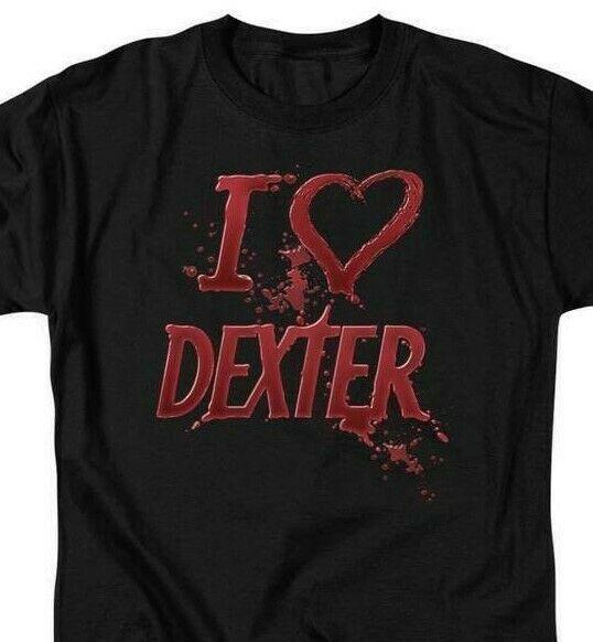 Dexter T-shirt I Love graphic TV horror show printed cotton tee SHO201 Black