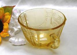 3618 Antique Federal Glass Amber Madrid Cup - $8.00