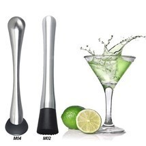 Stainless Steel Muddler Cocktail Mojito Bar Barware Drink Mixer Mixing Tool - £5.01 GBP+