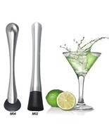 Stainless Steel Muddler Cocktail Mojito Bar Barware Drink Mixer Mixing Tool - $6.34+