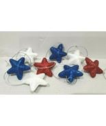 (9) MINI Patriotic 4th of July Red White Blue Stars Styrofoam Ornaments ... - $8.50