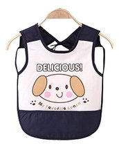 Waterproof Baby Bib Overclothes Painting Smock Apron Sleeveless Black