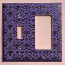 Haunted Mansion purple wallpaper Light Switch Outlet wall Cover Plate Home Decor image 13