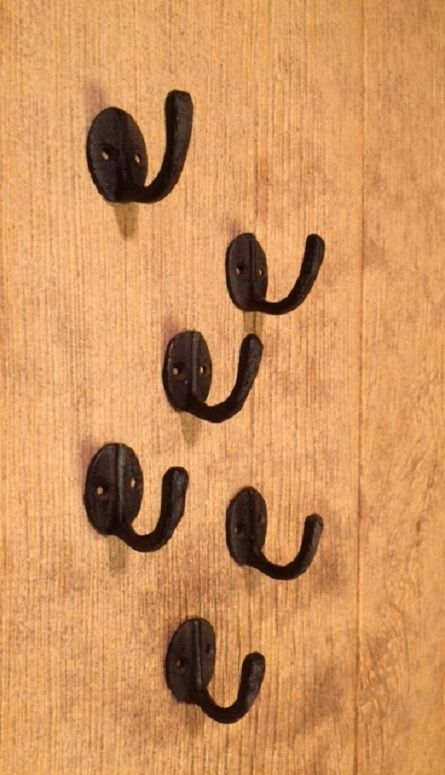 "Primary image for Wall Coat Hook Cast Iron Rustic 1 1/2"" Tall (Set of Six) Home Decor 0170-01203"