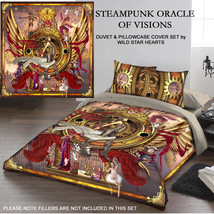 STEAMPUNK ORACLE  - Duvet and Pillows Covers Set / Size fit / Double Bed - $88.78