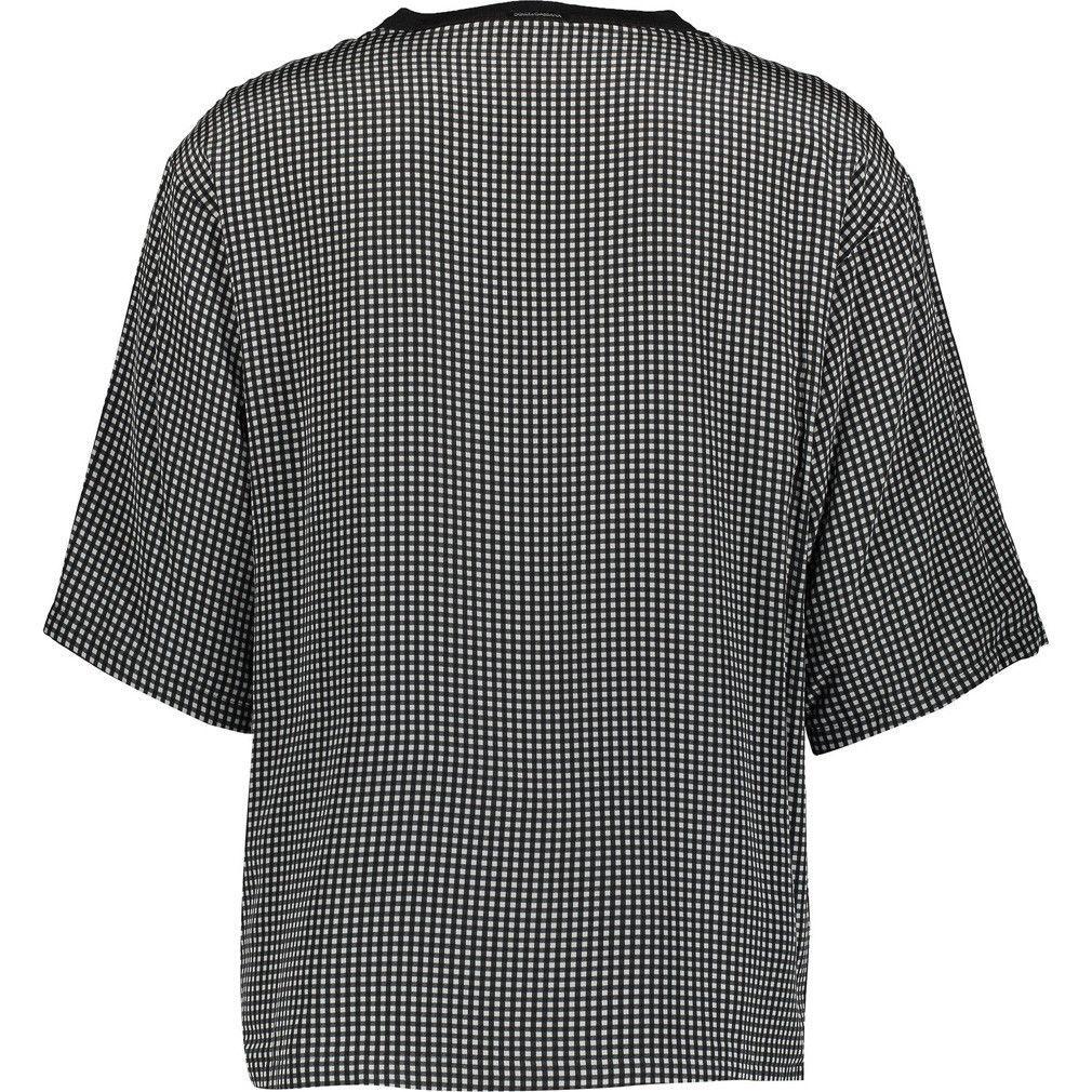 DOLCE & GABBANA Black & White Checkered Silk T-Shirt BNWT