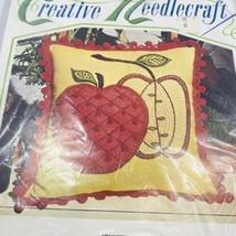 BUCILLA Creative Needlecraft Fanciful Apple Embroidery Pillow Kit Ball F... - $29.69