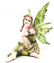 Small Meadowland Tribal Green Barberry Flower Girl Fairy Daydreaming Fig... - $22.99