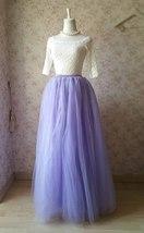 Adult Floor Length Tulle Skirt High Waisted Wedding Puffy Tulle Skirt Purple image 1