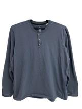 Adidas men's t-shirt  long sleeve gray half button front cotton size 2XL... - $17.62