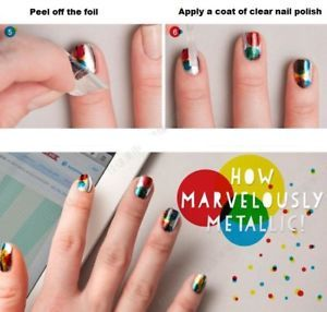 60 Colors Nail Art Tips Wraps Transfer Foil A* US SELLER * BUY2GET1FREE image 7