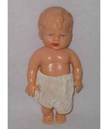 "SO CUTE Vintage 6 1/2"" Plastic BOY Doll Sweet Face - $46.30"