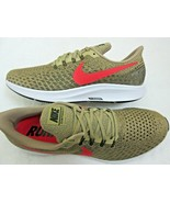 Nike Mens Air Zoom Pegasus 35 Running Shoes Parachute Beige Red Orbit Si... - $84.14