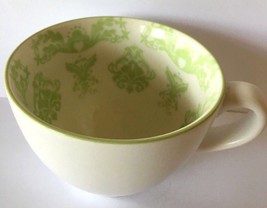Starbucks Coffee Mug/White with Green Fleur De Lis Design/12 fl oz - $22.95
