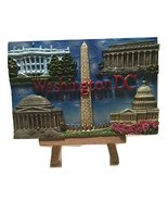 Colorful National Mall Ceramic Decorative Painting on Wood Easel- Washin... - $9.99